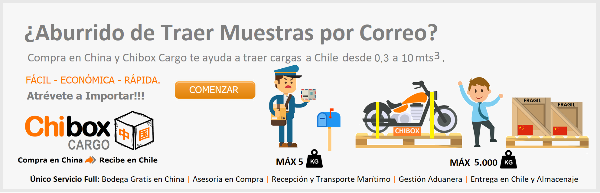 Chibox Cargo SPA | Compra en China y Recibe en Chile